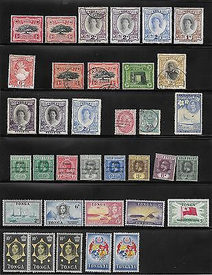 1886 Onwards Tonga / Togo Stamp Collection Used / Unused - High Values