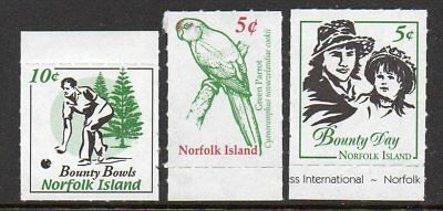 NORFOLK Is, 3 DIFFERANT LOCAL STAMPS MNH