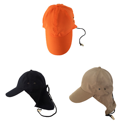 HAT Cap with NECK FLAP and CLIP so it WONT BLOW AWAY Legionnaire Sun Hat