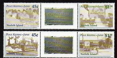 NORFOLK Is, 2001 PEACEKEEPERS GUTTER PAIRS MNH