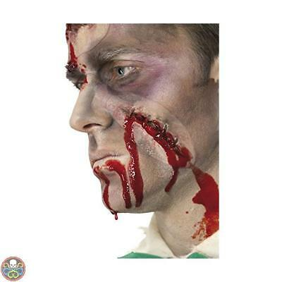 Smiffys Tg: One Size White Self Stitched Up Scar Nuovo