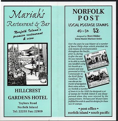 NORFOLK Is, 1998 SETTLEMENT LOCAL STAMPS BOOKLET MNH