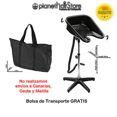 Lavacabezas Portátil PlanetHair® Store Normal regulable y basculante con bolsa