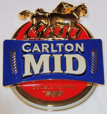 Collectible Carlton Mid Metal Tap Top Badge - New