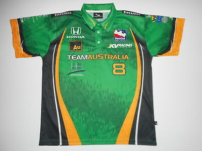 Team Australia Indycar Racing Shirt Mens Xl