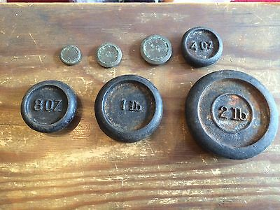Set Of 7 Kitchen Scale Weights