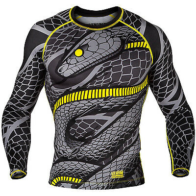 EXTRA SMALL Venum Snaker Long Sleeve Rashguard Black Yellow