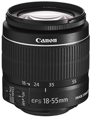 Canon EF-S Camera Zoom Lens 18-55mm f/3.5-5.6 IS Auto Manual Black