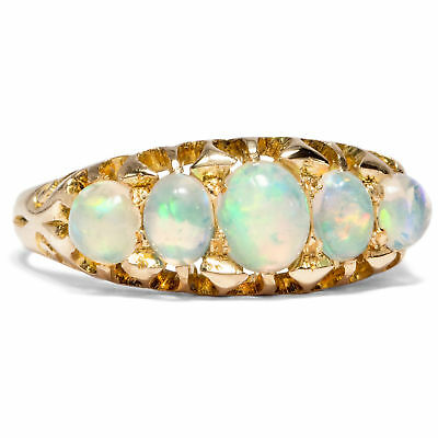 England 1903: Antiker OPAL RING in 750 Gold / Opale Opalring 18ct Verlobungsring