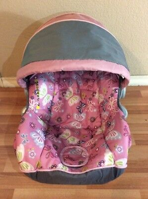 Baby Trend Ez Loc Infant Car Seat Cover Cushion Canopy Part Set Pink Gray