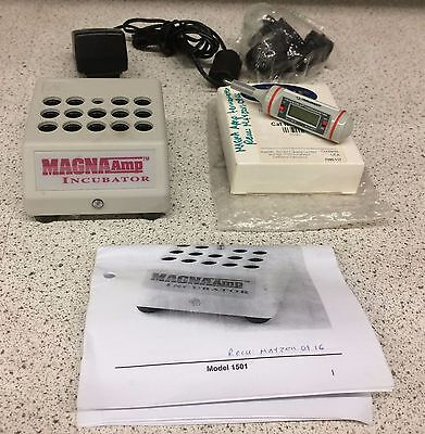 SGM Biotech MagnaAmp Dry Bath Icubator + Traceble Thermometer.