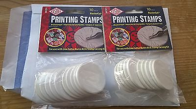 2x packs of Essdee Printing Stamps - For use with Lino Cutter Kit, New