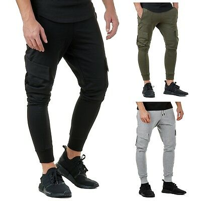 EightyFive EFJ2105 Jogging Hose Pants Slim Fit Gym Freizeit Schwarz Khaki  S-XL 5222968645