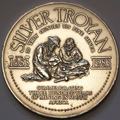 "SOUTH AFRICA: THE HUGE ""TROYAN"" SILVER INGOT. A whopping 20 troy oz .999 silver."