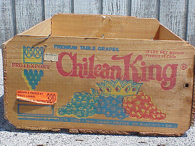 Chilean King Table  Grapes Wood  shipping  Crate