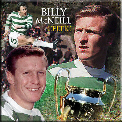 Great ceramic coaster of Lisbon Lions captain Billy McNeill of Celtic FC