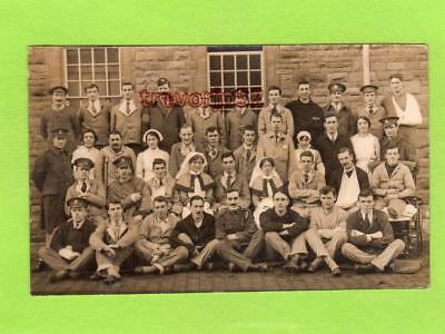 Military Hospital WWI Group RP pc used Fishponds Bristol ? 1917 Viner & Co D397
