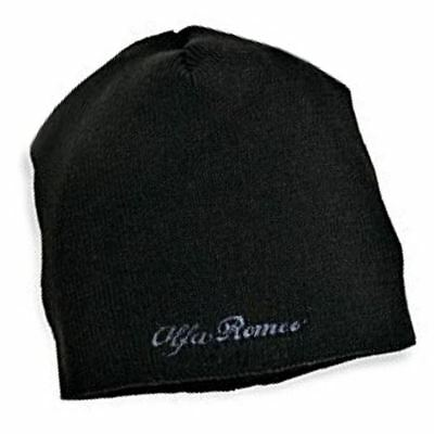 HAT Beanie Alfa Romeo Touring Sportscar Embroidered Logo Wool Acrylic New! Black