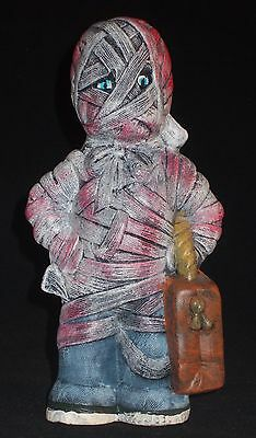 Trick Or Treater Bloody Mummy Hand Painted Ceramic Home Decor
