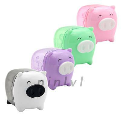 1PCS Cute Cartoon Mini Pig Pencil Sharpener Mechanical for School Kids Gift
