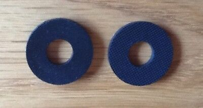 Black Rubber Guitar Strap Locks Washers - Simple Safety For Your Guitar