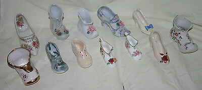 Job Lot Pottery Shoes and Boots Bargain 12 items Vintage and Modern
