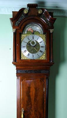 Mahogany Liverpool Longcase Moonphase Grandfather Clock