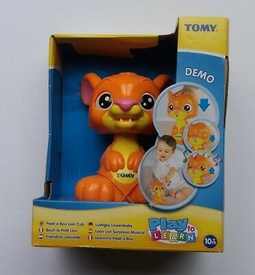 Tomy Peek A Boo Lion Cub Pre School Musical Interactive Toy Boxed Free P&p