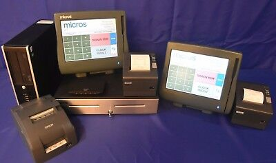 Micros Pos E7/ws4Lx  2 Term Pkg. Used W/ Warranty, Tech Support, All Passwords