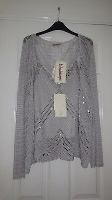 Kaleidoscope Twin Set Top And Cardigan Bnwt Size 14