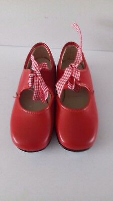 Vintage Timestep Childrens Size 8 Red Tap Shoes