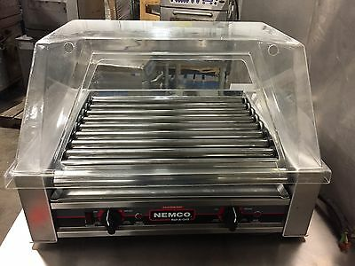 NEMCO 8027 27 Hot Dog Roller Grill w/ sneeze guard NICE WORKS GREAT