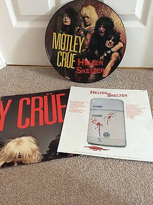 """motley crue helter skelter 12"""" picture disc with insert and poster complete"""