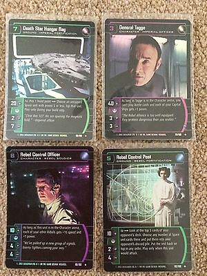 STAR WARS TCG - A New Hope - ANH - 4 various Uncommon Foils