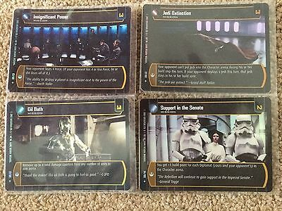 STAR WARS TCG - A New Hope - ANH - 4 Uncommon 'Mission' Foils