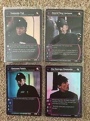 STAR WARS TCG - A New Hope - ANH - 4 Uncommon 'Imperial Character' Foils