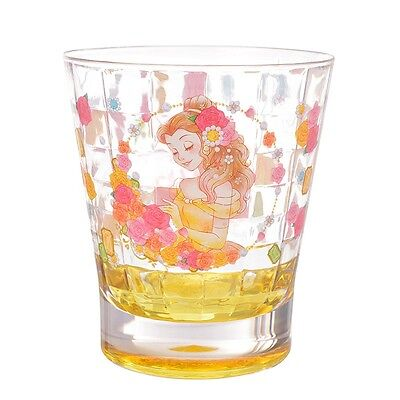 Japan Disney Princess Beauty and the Beast Belle Acrylic Cup Clear Airy 470ML