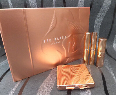 TED BAKER kissed By A Rose Make Up Tinted Balm Lipstick & Rose Gold Mirror Gift