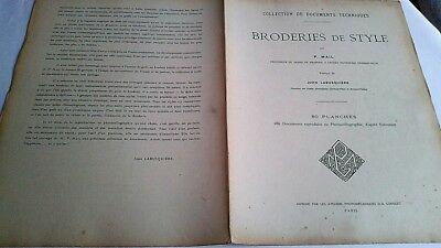 1911 BRODERIES de STYLE  P. Mail 79/80 Planches 286 documents photocollographies