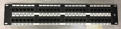 48 port CAT6 RJ45 Patch Panel