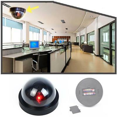 Dummy Fake Surveillance Security Dome Camera Flashing Red LED Light Sticker FT