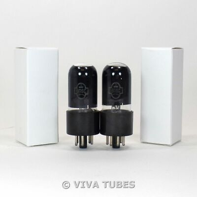 SHIPS FROM USA - NOS Ip Matched Pair Soviet Era 6P6S = 6V6GT Vacuum Tubes