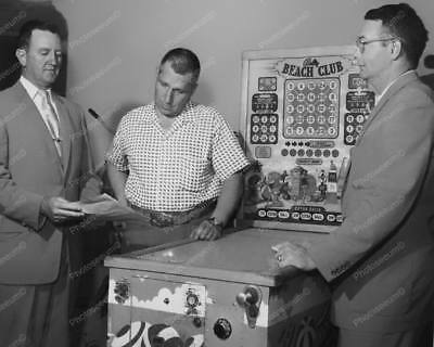 "Bally Beach Club Bingo Pinball Machine   8"" - 10"" B&W Photo Reprint"