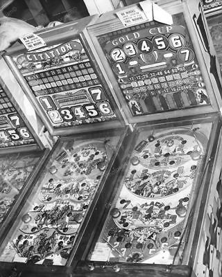 "Bally Citation &  Gold Cup Bingo Pinball Games   8"" - 10"" B&W Photo Reprint"