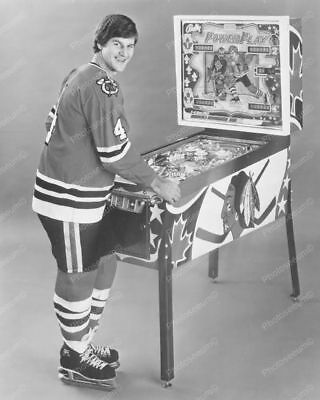 "Bobby Orr Bally Power Play Pinball Machine 8"" - 10"" B&W Photo Reprint"