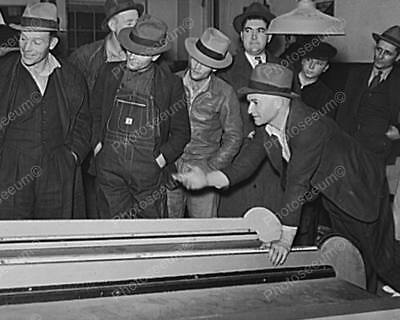 "Coin Operated Skee Ball 1940s 8"" - 10"" B&W Photo Reprint"