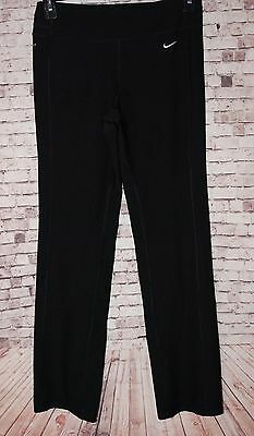 NIKE Dri-Fit Black Women's Size Small Stretch Athletic Yoga Running Pants