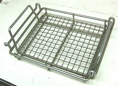 2 Steel Wire Mesh Plating Racks Dip Tank Tray cleaning Bins Basket Container