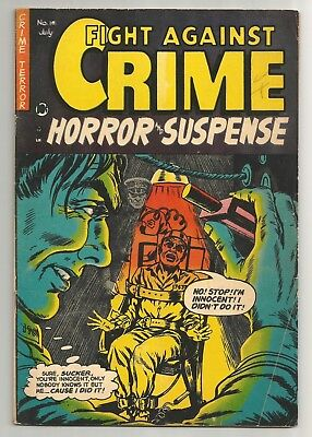 Fight Against Crime issue 14  CLASSIC Death by Electric Chair Cover!