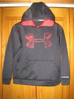 Under Armour Storm Cold Gear hoodie sweatshirt kids boys youth YMD M black red